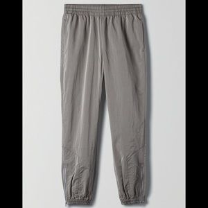 TNA Dope Dyed Trackpants in Matte Pearl XXS